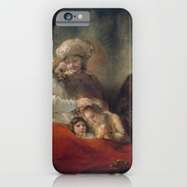 Rembrandt - Jacob Blessing the Sons of Joseph iPhone Case
