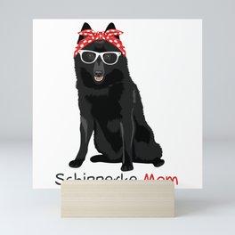 Schipperke Mom Retro Mothers Day Gift Idea Mini Art Print