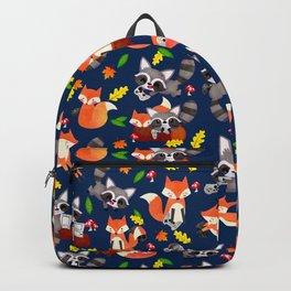 Gamer Woodland Animals Fox Raccoon Backpack