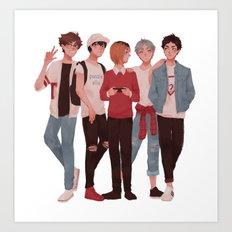 Pretty Setter Squad Art Print