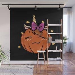 Pumpkincorn Halloween Cute design Gift Wall Mural