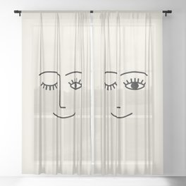 Wink (Off White) Sheer Curtain