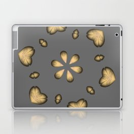 Golden Hearts Golden Luxury Week Wednesday Laptop & iPad Skin