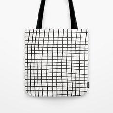 Handdrawn Grid Tote Bag