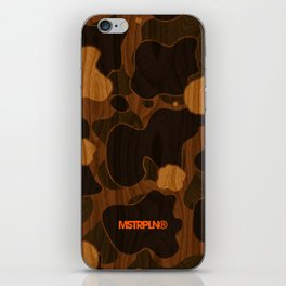 Modern Woodgrain Camouflage / Duck Print iPhone Skin