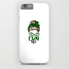 Lucky Lvn St Patricks Day Irish Shamrock Nurse iPhone Case