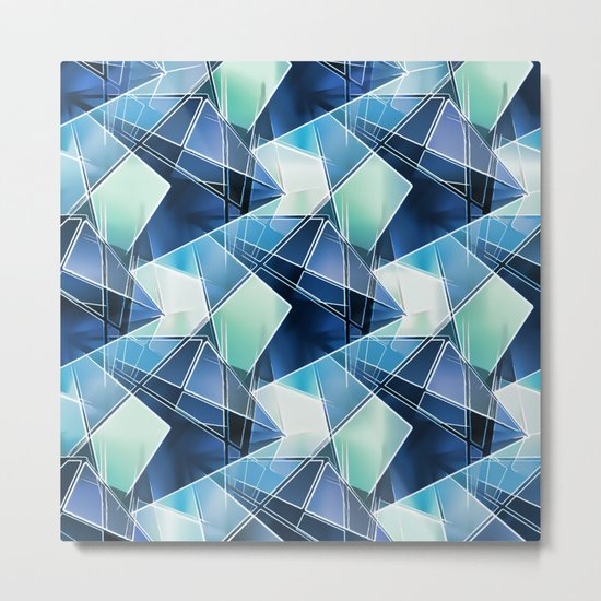 Iced Geometric Metal Print