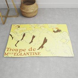 """Henri de Toulouse-Lautrec """"Troupe Mademoiselle Eglantine"""" Rug"""