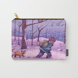 Winter Snow Boy Carry-All Pouch