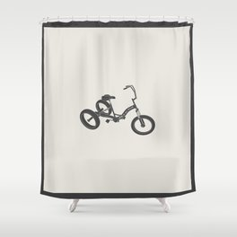 tricycle 02 Shower Curtain