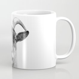 Black and White Goat Coffee Mug