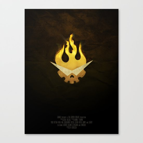 Gurren Lagann Movie Poster Canvas Print