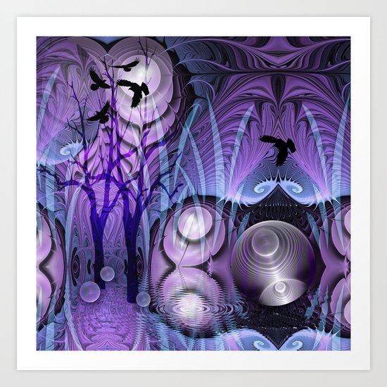 Magical Swamp Art Print
