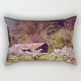 Apple Orchard in Spring Bloom Rectangular Pillow