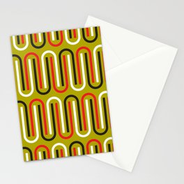 Geometric Pattern 110 (mustard red) Stationery Cards