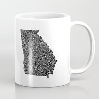 georgia Mugs featuring Typographic Georgia by CAPow!
