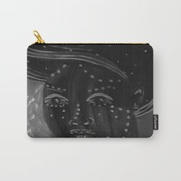 Night by Lu, black-and-white Carry-All Pouch