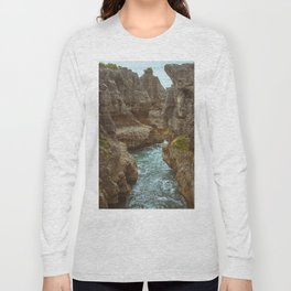 Pancake Rock Cliffs Long Sleeve T-shirt