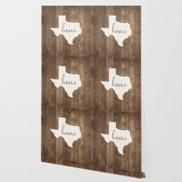 Texas is Home - White on Wood Wallpaper