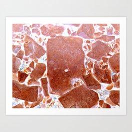 negative rocks Art Print