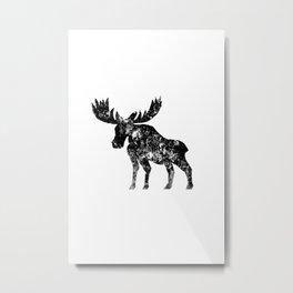 Weathered Moose  Metal Print