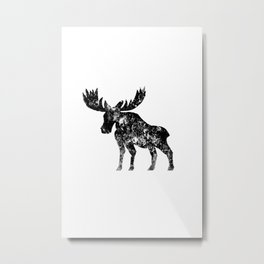 Weathered Moose  Metal Print