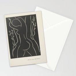 ...She Places Her Cheek There... She Embraces It... by Henri Matisse Stationery Cards