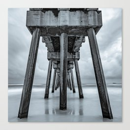 Russell Fields Pier - Panama City Beach in Monochrome Canvas Print