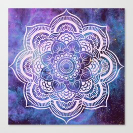 Galaxy Mandala Purple Lavender Blue Canvas Print