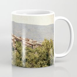 Little vintage town between forest and mountain Coffee Mug