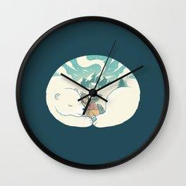 Cozy Winter Wall Clock