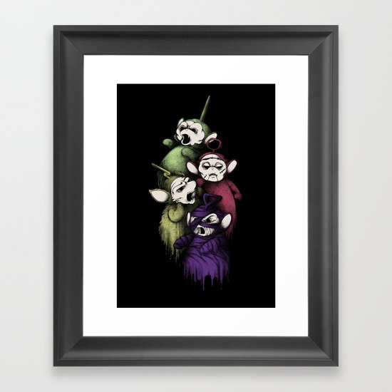 SCARYTUBBIES Framed Art Print
