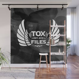 Tox Files - White on Gray Wall Mural