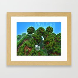 Bacterium Hedgerow Framed Art Print