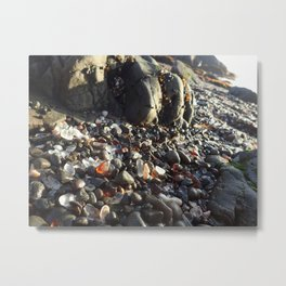 Glass beach Metal Print