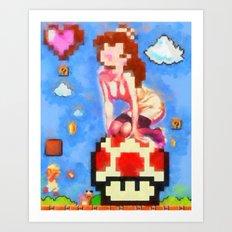 princess peach pinup #8 Art Print