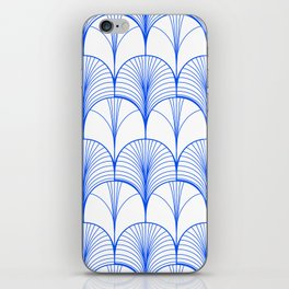 Art Deco Blue #pattern #illustration iPhone Skin