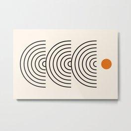 Abstraction_SUN_BALANCE_LINE_POP_ART_009AA Metal Print