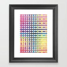 Stripes In Colours Framed Art Print