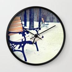 One snowy morning... Wall Clock