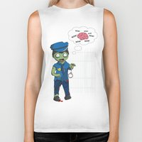 police Biker Tanks featuring Zombie Police by Jelo