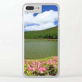 Lake in Azores Clear iPhone Case