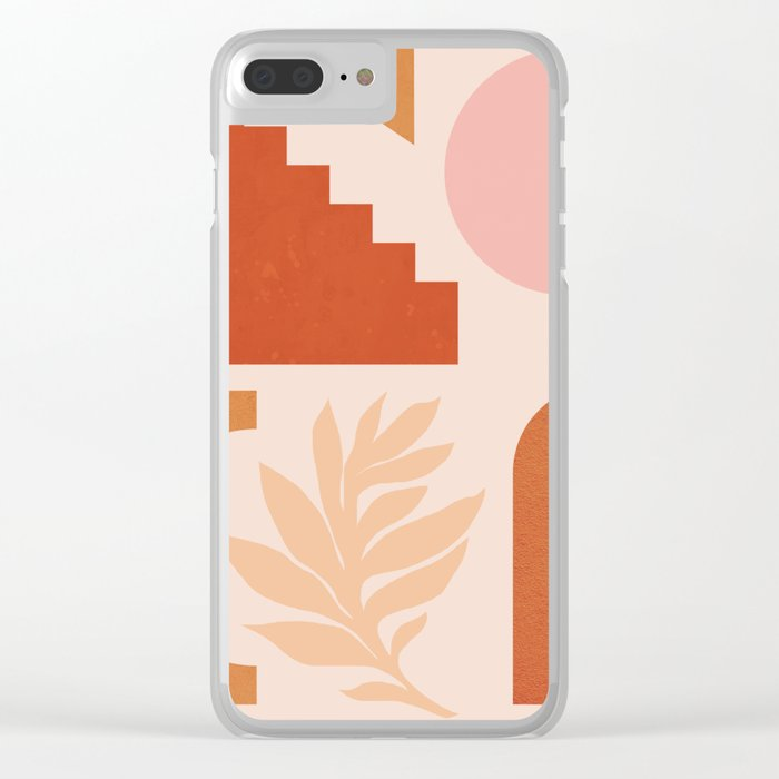 Abstraction_SHAPES_Architecture_Minimalism_002 Clear iPhone Case