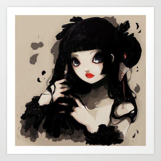 L'Oiseau silence Art Print