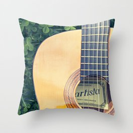 Artista Guitar Throw Pillow