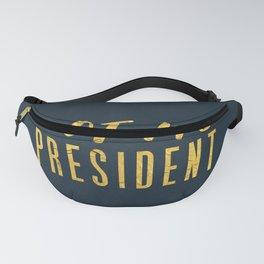 Not My President 1.0 - Gold on Navy #resistance Fanny Pack