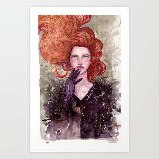 The Girl with X-Ray Eyes Art Print