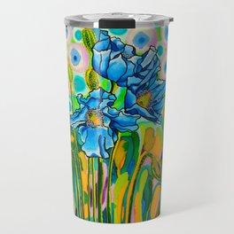Blue Poppies 2 Travel Mug