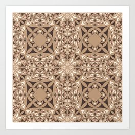 Capuccino kaleidoscope Art Print