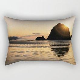 Cannon Beach haystack Rectangular Pillow